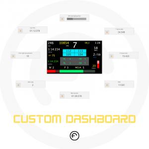 Formula steering wheel dashboard custom