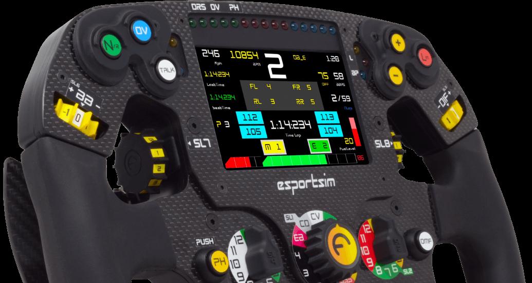 Esportsim formula steering wheel