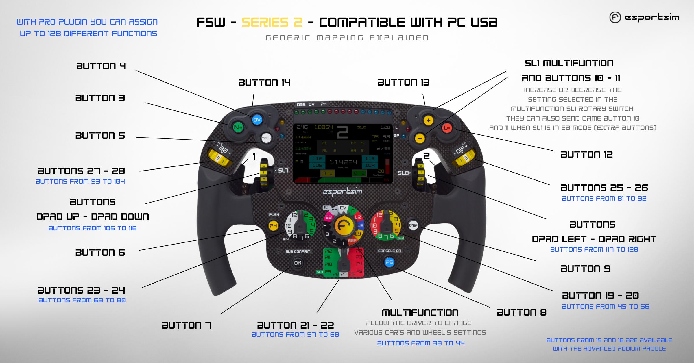 Formula steering wheel compatibile per PC
